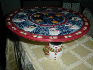 Pedestal Cake Plate House of Lloyd Christmas Home Interiors