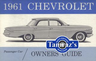 1961 61 Chevrolet Bel Air Biscayne Impala Owners Manual