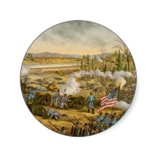 American Civil War Battle of Stone River in 1863 Stickers