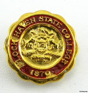 Lock Haven State College Vintage PA School Crest Pin
