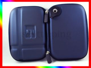 Blue Carrying Hard Case Cover Bag for 5 0  5 2 GPS Garmin Nuvi 1490