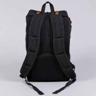 Herschel Supply Black Little America Canvas Backpack Laptop Case HUF