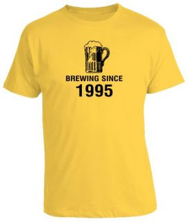 18th Birthday Gift Present Brewing Since Beer Tshirt