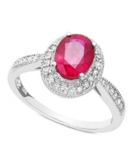 Effy Collection 14k Gold Ring, Ruby (5 ct. t.w.) and Diamond (1/4 ct