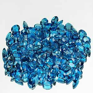 Size 0 98 1 00 Ct Natural Oval Shape London Blue Topaz Gemstone