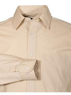 Double TWO Classic plain long sleeve shirt Yellow