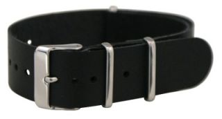 LEATHER NATO Style MILITARY WATCH BAND Timex SOLID Strap FITS ALL