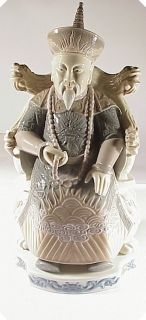 Lladro Porcelain Figurine Glazed Chinese Nobleman 4921