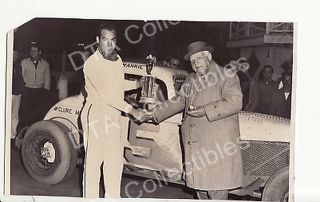 Frankie Thompson 5 Stock Car Winner Racing Photo 1961