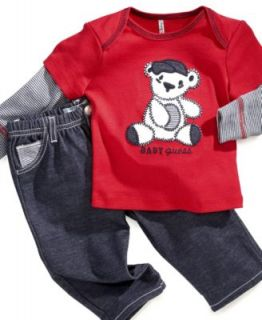 GUESS Baby Set, Baby Boys 3 Piece Teddy Bear Set   Kids