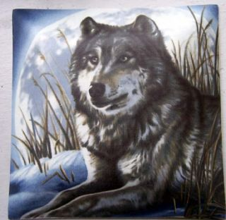 Lone Wolf Lobo Square Ceiling Light Wildlife Low VOCS
