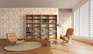 Stone Texturedwallpaper Kitchen Living Room Fireplace Wall