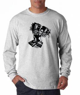 Electronica DJ Dubstep Turntable Long Sleeve Tee Shirt