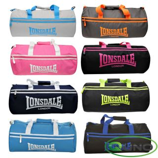 Lonsdale London Overnight Barrel Bag Gym Sports Designer Travel Case