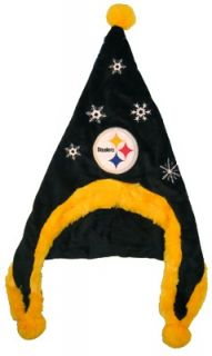 Pittsburgh Steelers Football Soft Fleece Snowflake Dangle Hat