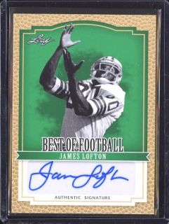 You are bidding on a 2012 Leaf Best of Football James Lofton Auto