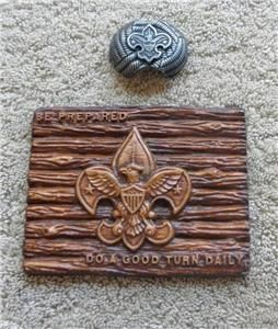 Vintage Boy Scout Lot of Scout Jewelry Box Cover Plaque NChief Slide
