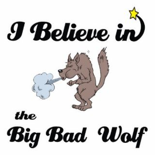 believe in big bad wolf acrylic cut outs