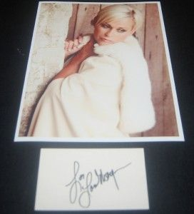Country Music Great Lorrie Morgan Signed Card and Great Print