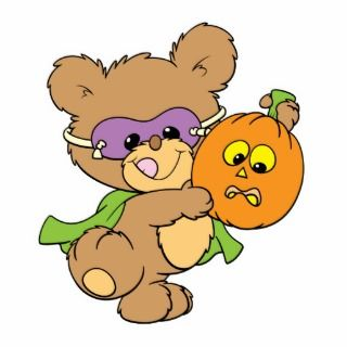 cute halloween superhero teddy bear design acrylic cut outs