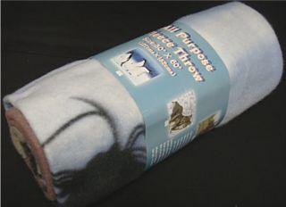 50 x 60 Fleece Blanket Throw Penguin Horse Wolf Dolphin