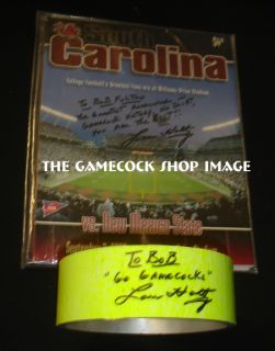 USC Gamecocks Lou HOLTZ 1st Victory SIGNED Goalpost + Bob Fulton HOFer