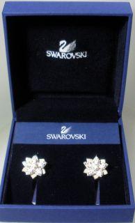 Swarovski Silver Crystal Louella Pierced Earrings