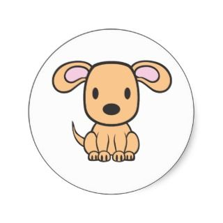 Baby Dog Cartoon Sticker