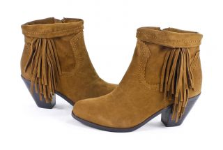 Sam Edelman Louie Cocoa Suede Bootie Ankle Boots Shoes 7 New