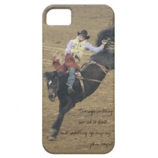 cowboy bronco rider, courage is john wayne iPhone 5 cases