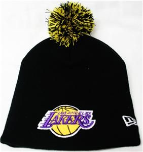 New Era La Los Angeles Lakers Retro Cuffless Beanie Hat Knit Cap with