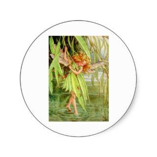 The Willow Fairy Round Sticker