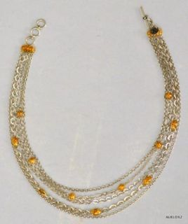 Magnificent New Lois Hill Sterling Silver Gold Multi Strand Repousse