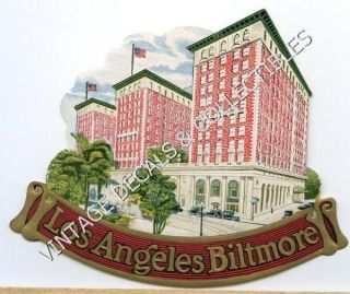 Vintage 1920s Los Angeles Biltmore Hotel Original California Luggage