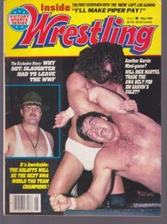 Vintage Inside Wrestling Magazine 1980s Sgt Slaughter Rick Martel Jim