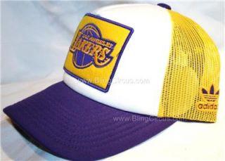 Adidas La Los Angeles Lakers Snapback Hat Trucker Cap
