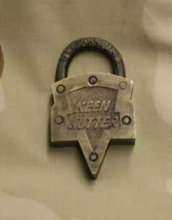 Unusual Keen Kutter Brass Lock St Louis