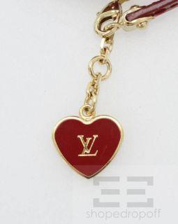 Louis Vuitton Pomme DAmour Vernis Heart Charm Commit Wrap Bracelet