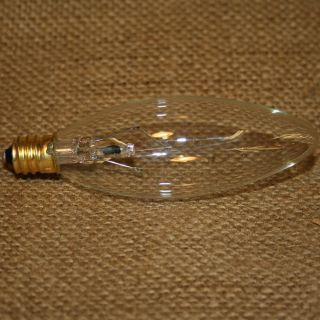 Tart Warmer Replacement 25 Watt Light Bulb Long Clear