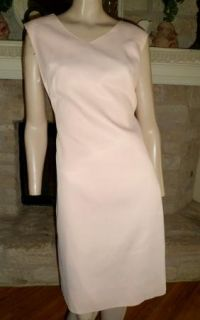 Vintage 60s Pink Alfred Shaheen Pencil Sheath Hourglass Dress M