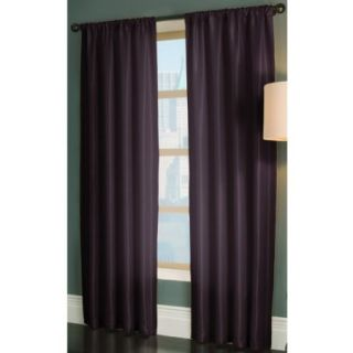 Allen Roth Drape Curtain Florence Rod Pocket Panel Lined Purple 84L