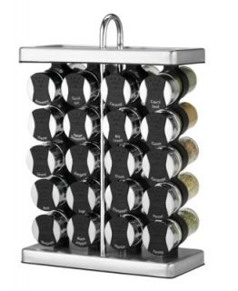 Steel Spice Rack, 20 Piece Set   Kitchen Gadgets   Kitchen