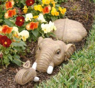 Elephant Garden Sculpture Lawn Pond Statue Outdoor