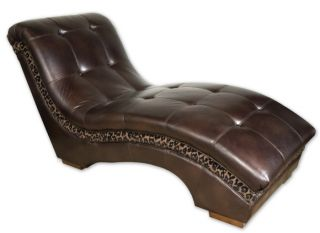 Chaise Lounge Chair Dark Brown Faux Leather Reading Seat Animal Print