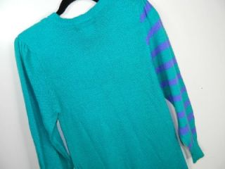 Vintage Lorenzo de Chapell Retro Mod Long Sweater Dress Angora Acrylic