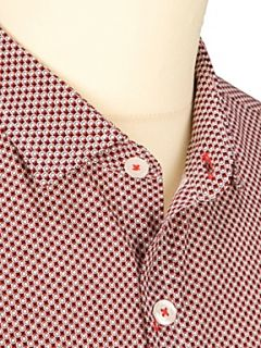 Peter Werth Fleming printed long sleeve shirt Red