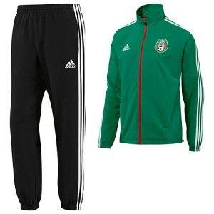 Adidas FMF Mexico Mens XL Presentation Suit Green Black Jacket Pant