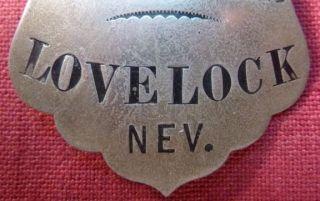 Obsolete Old West City Marshal Badge Lovelock Nevada No Reserve