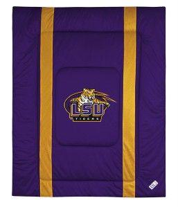 LSU Tigers Comforter Set Twin Full Queen SL NCAA Bedding Sets