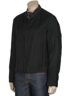 Luca Venturini Mens Black Bomber Jacket Made in Italy 44R Euro 54 $650
